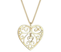 Halskette Herz Ornament 925 Sterling Silber