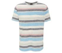 T-Shirt, Baumwolle, Brusttasche, Streifen