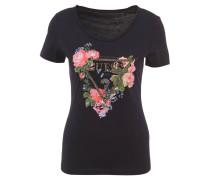 T-Shirt, Print, Strass-Besatz