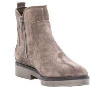 Ankle Boots, Rauleder, Ziernähte, Elastik-Einsätze