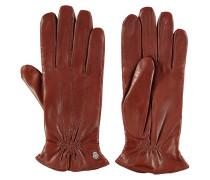 Handschuhe, Leder, Woll-Futter, Emblem