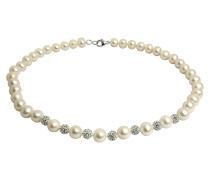 Perlen-Kette Süßwasserzucht-Perlen 7,0-8,0mm