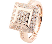 Ring, rosévergoldet, Zirkonia