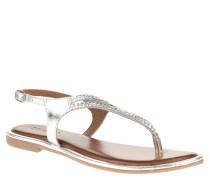 Sandalette, Leder, Flecht-Optik, Riemchen