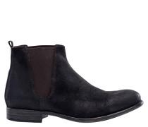 "Chelsea Boots ""FUAD"", Kalbverloursleder, Blockabsatz"
