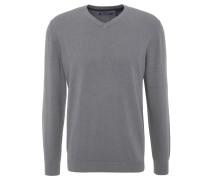 Pullover, uni, V-Ausschnitt