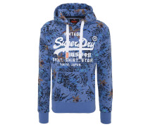 Sweatshirt, Tropical-Print, Kängurutasche, Kapuze