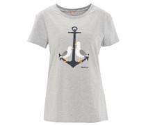 T-Shirt, maritimer Print, Rundhalsausschnitt
