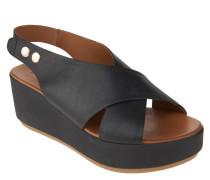 Sandaletten, Metallic-Look, Statement-Sohle
