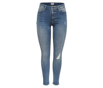 "Jeans ""Blush"", Skinny Fit, Destroyed-Look, offener Saum"