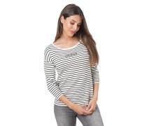 Pullover, 3/4-Arm, Label-Stickerei, Rollsaum-Rundhalsausschnitt