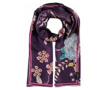 Schal mit Floral-Print aus reiner Seide