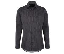 Freizeithemd, Comfort Fit, gepunktet, Brusttasche