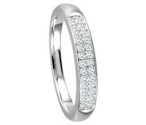 Ring 375 Weißgold mit 26 Diamanten, zus. ca. 0