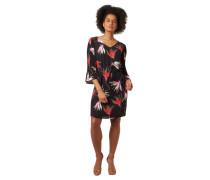 Kleid, 3/4-Arm, Taillenband, plissierte Ärmel, Reißverschluss
