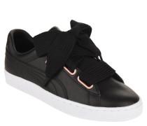 """Sneaker """"Basket Heart"""", Leder, uni, Schleife"""
