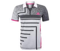 """Poloshirt """"Seasonal"""", Allover-Muster, Kontrast-Details"""