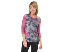 Shirt, 3/4-Arm, floral, Strass-Besatz