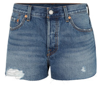 "Jeans-Shorts ""501"", Straight Leg, Used-Look, Baumwolle"