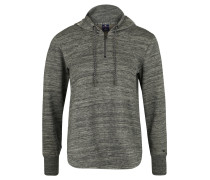 Sweatshirt, Kapuze mit Logo-Print, meliert