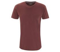 T-Shirt, unifarben, Brusttasche, Rundhalsausschnitt