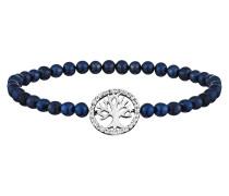 Armband, Perlen Blau, Baum