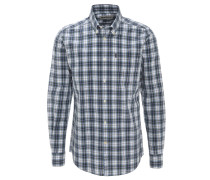 Freizeithemd, Tailored Fit, Button-Down-Kragen, kariert