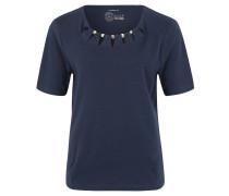 T-Shirt, Jersey, Metall-Details, unifarben
