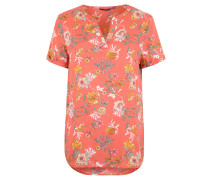 Blusenshirt, Blumen-Print, verlängerter Rückensaum