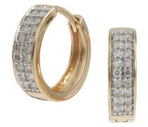 Diamant-Creole  585, zus. ca. 0,2 ct.