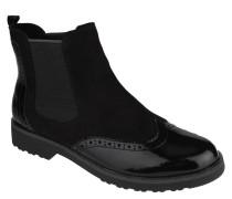 Chelsea Boots, Lack-Details, Stretcheinsätze, Lyralochung