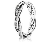"""Ring """"Geflochtener Pavé"""" mit Zirkonia 190892CZ"""