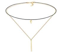 Halskette Choker Geo Dreieck Layer Minimal 925 Silber