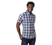 Freizeithemd, Modern Fit, kariert, Kurzarm, Button-Down-Kragen