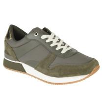 Sneaker, Materialmix, kontrastfarbiger Akzent