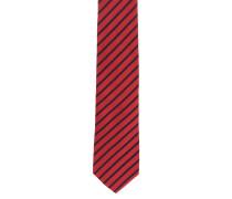 Krawatte, reine Seide, gestreift