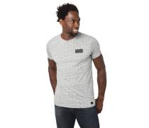 T-Shirt, reine Baumwolle, Rundhalsausschnitt, geometrisches Muster