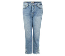 "Jeans ""Lissy"", Straight Leg, Used-Look, ausgefranster Saum"