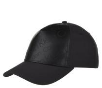 Cap, Logo-Print, glänzende Optik, verstellbar