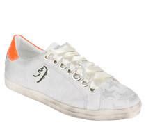 Sneaker, Veloursleder, Sterne, Satin-Schnürsenkel, Used-Look
