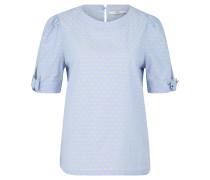 Blusenshirt, meliert, gesticktes Muster, Schleifen