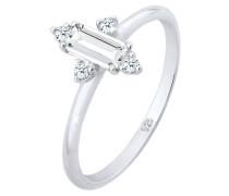 Ring Verlobung Edel Topas Diamant (zus. 0.08 Ct.) 925