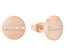 Damen-Ohrringe mit Zirkonia IP ROSE