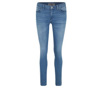 "Jeans ""Nicole"", Slim Fit, unifarben, Waschung"
