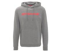 Sweatshirt, Melange, Kapuze, Print