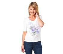 """T-Shirt """"Edda"""", Halbarm, Blumenprint"""