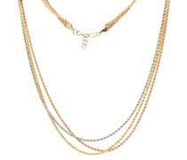 Kordelkette, 3-reihig, 585er Gold