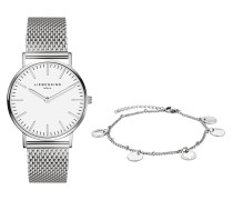 Set Damenuhr und Armband LS-0035-MQB