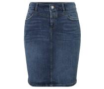 Jeansrock, Used-Optik, 5-Pocket-Style, Leder-Patch