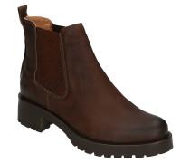 Chelsea Boots, Glattleder, Blockabsatz, strukturierter Stretch-Einsatz